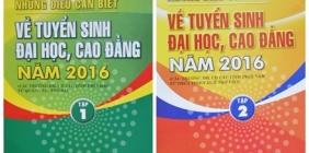 THÔNG TIN TUYỂN SINH ĐẠI HỌC, CAO ĐẲNG HỆ CHÍNH QUY 2016